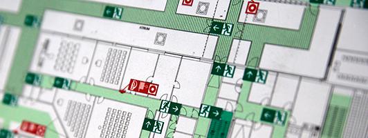 Розробка планів (схем)  евакуації людей на випадок пожежі
